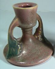 Roseville Art Pottery Vintage 1 MINT TUSCANY PINK Candle Holder Candlestick 1066