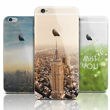 New Ultra Thin Paint Clear Soft Rubber Case Cover For Apple iPhone 6 6s Plus 5s