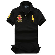 NWT HIGH QUALITY POLO MEN'S T-SHIRTS ATHLETIC SHORTSLEEVE ADULT TOPS SIZE S-XXL