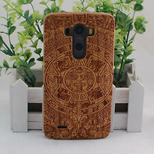 Genuine Natural Maya Cherry Wood Bamboo Hard Cover Case for LG G2 G3 G4 G5