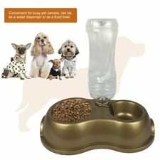 Automatic Pet Feeder Food Water Dispenser Container Drinking Pet Supplies BU