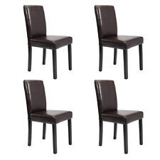 Set of 2/4/6/8/10 pcs Leather Elegant Design Dining Chairs Home  Black/Brown