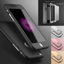 360° Hybrid Hard Ultra Thin Case Tempered Glass Cover for Apple iPhone 6 7 Plus
