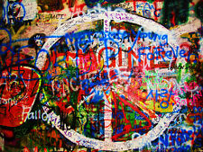 "John Lennon Tribute Wall Fabric poster 17x13 / 32x24"" Decor 01"