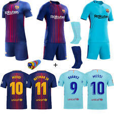 2017-18 New Soccer Club Jersey Kit Short Sleeve Sport Outfit Kids Boy Youth+Sock