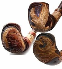 Difficult Wooden Hand carved TOBACCO SMOKING PIPE Pipes for choice, 9 mm filter