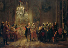 Adolph Menzel: Concert for Flute with Frederick the Great. Art Print (4413)
