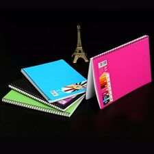 A5 Spiral Coil Plastic Cover Notebook Diary Journal Student Sketch Book NotePad
