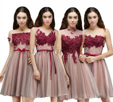 2017 New Short/Mini Lace Homecoming Bridesmaid Dresses Cocktail Formal Prom Gown