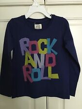 NWT 2/3 or 3/4 Mini Boden Navy Blue Rock & Roll Tee