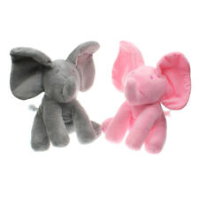 "12""Peek-a-boo Elephant Baby Plush Toy Singing Stuffed Animated Animal Doll"