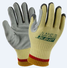 Cow Leather Anti Cut Work Gloves Kevlar Cut Resistant Safety Glove