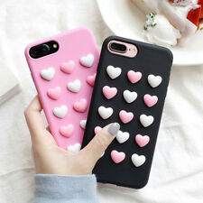 3D Korea Jelly Love Heart Candy Soft Silicone Phone Case For iphone 6 6s 7 Plus