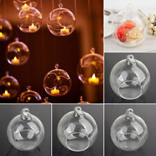 Clear Stylish Glass Round Candle Tea Light Holder Candlestick Decors 6/8/10/12