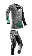 NEW 2018 THOR MX PULSE GEOTEC PANT JERSEY GEAR COMBO BLACK/TEAL + FREE NAME
