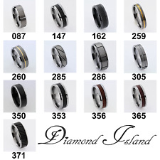 Tungsten Carbide Ring Comfort Fit Wedding Band Unisex Silver, Gold, Black, Wood