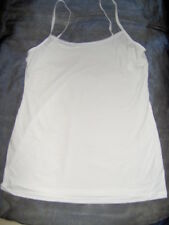 EX M&S YOUNG LADY STRETCHY STRAPPY CAMISOLE TOP - WHITE BLACK ZEBRA SIZES 8 - 18