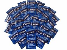 Crown Ultra Thin Lubricated Latex Condoms with Silver Travel Case-Choose Qty.