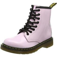 Dr Martens Delaney Baby Pink Patent Junior Ankle Boots
