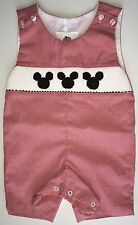 Boys Disney Smocked Mickey Mouse Jon Jons 6T and 9T