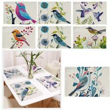 Magpie Bird Table Placemat Settings Dining Eating Serving Mats Coasters
