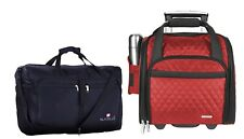Travelon 3 Pc Set - wheeled Underseat Carry-On Suitcase with Back-Up Bag and...