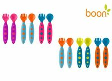 Boon Modware Toddler Utensils Fork and Spoon Set 9m+ BPA or PVC Free