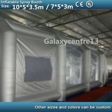 10mx5mx3.5m/7m*5m*3m Portable Inflatable Oxford Cloth Car Spray Booth Paint Tent