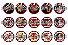 "Florida State Seminoles FSU PRE CUTS or DIGITAL SHEET 1"" Circle Bottle Caps"