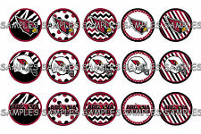 "NFL Arizona Cardinals PRE CUTS or DIGITAL SHEET 1"" Circle Bottle Caps"