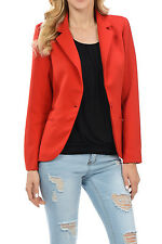 Auliné Collection Women's Candy Color Long Sleeve Lined Blazer