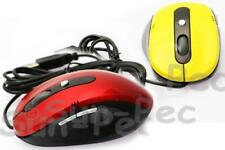 USB Optical Scroll Wheel Mice Mouse For PC Laptop With Thumb Buttons Red/Yellow