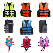 Adult Kid Neoprene Polyester Life Jacket Vest Swimming Boating Ski PFD Enclosed