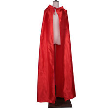 Adult's Satin Hooded Cloak Gothic Demon Cape Medieval Wizard Costume Dress Up