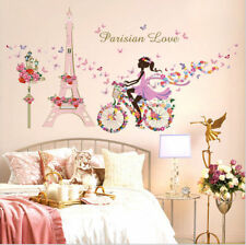 Girl Flower Butterflies Decal Art Mural Wall Sticker Removable Home Room Decor