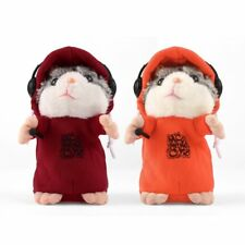 Cute Talking Music DJ Hamster Plush Sound Record Hamster With Mic Animal Toy EW