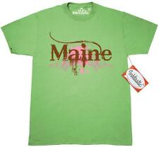 Inktastic Brown Grunge Maine T-Shirt State Travel Places States U.s. Mens Adult