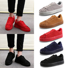 Mens Boy Suede Casual Sneakers Breathable Sports Athletic Running Shoes Trainers