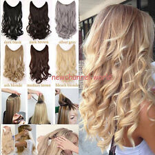 US Straight Piece Secret Wire Hair Piece Hair Extensions As Human Blonde Brown