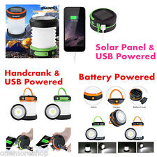 Portable Lamp Collapsible Solar USB Handcrank Battery Powered Camping Lantern AU