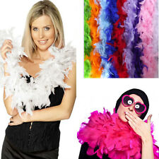 2M Long Fluffy Feather Boa Strip Party Wedding Dress Costume Fancy Decoration