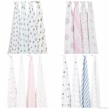 Aden+Anais 100% Cotton Muslin 4 Pack Baby Swaddle / Stroller cover