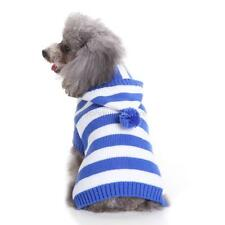 Pet Dog Winter Sweater Clothes Puppy Cat Clothing Coat Striped Hoodie Apparel