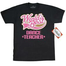 Inktastic Cute Dance Teacher Gift T-Shirt Worlds Best Instructor Dancing Arts
