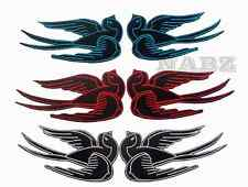 Pair of Swallows Rockabilly iron sew on patch badge