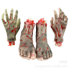 Bloody Hand Halloween Prop Severed Cut Off Fake Finger Foot Arm Horror Body New