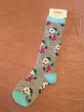 NWT Gymboree Back to Blooms Gray Floral Knee Socks Sz Small