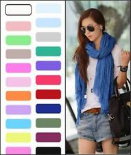 Ta Womens Girls Soft Crinkle Long Pure Candy Scarf Wrap Shawl Stole Multi-color