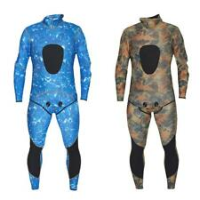 Camouflage 2-piece Set 3mm Neoprene Spearfishing Wetsuit SCUBA Free Diving