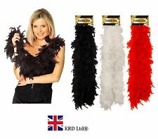 FLAPPER FEATHER BOA Charleston Gatsby 1920's Fancy Dress Costume NEW 150cm UK